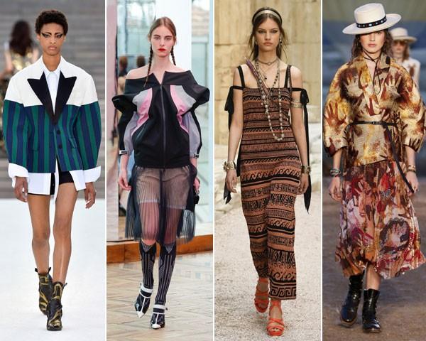 O ombro no foco nas coleções Louis Vuitton, Prada, Chanel e Dior (Foto: divulgação)