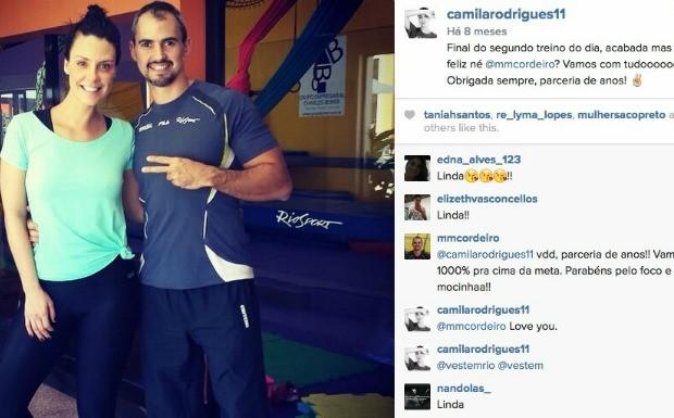 Conhea o treino de emagrecimento e definio muscular da atriz Camila Rodrigues (Foto: Reproduo / Instagram)