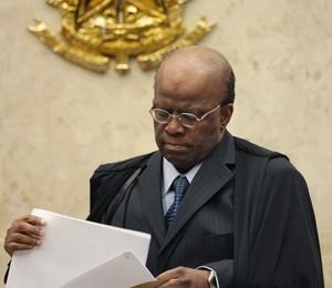Presidente do STF, ministro Joaquim Barbosa, no julgamento de embargos de declaração apresentados pelas defesas dos condenados no mensalão (Foto: Carlos Humberto/SCO/STF)