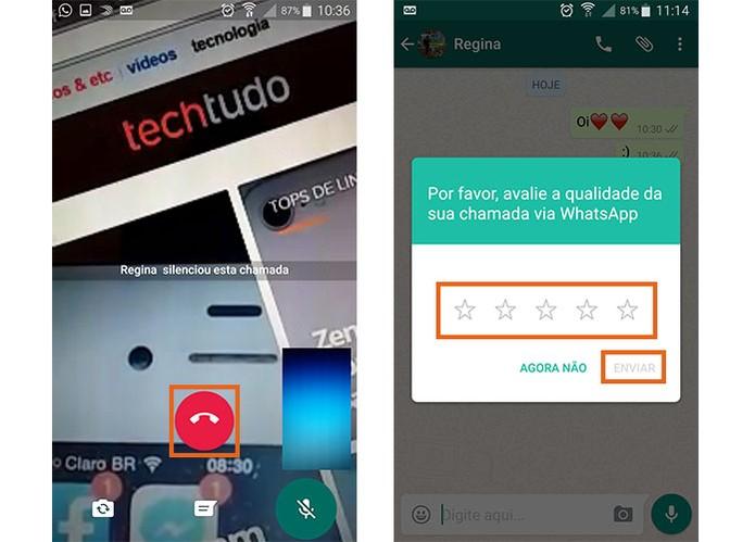 Encerre a chamada de vídeo no WhatsApp (Foto: Reprodução/Barbara Mannara)