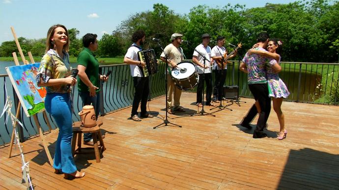 Forró Zen colocou o sul-mato-grossense na dança do arrasta pé (Foto: TV Morena)