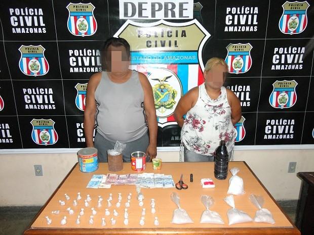 Pai e filha foram presos no Coroado 2 (Foto: Divulgação/Polícia Civil)