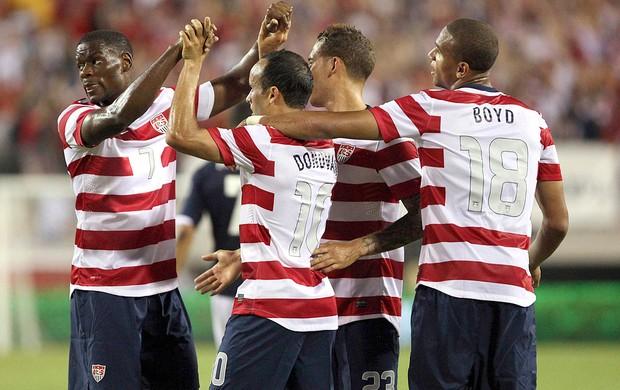 Estados Unidos x Escocia, Comemoração (Foto: Agência Reuters)