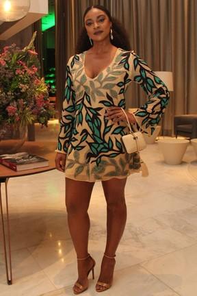 Cris Vianna em festa em hotel na Barra da Tijuca, Zona Oeste do Rio (Foto: Wallace Barbosa/ Ag. News)