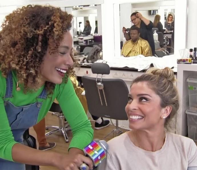 Grazi Massafera mostra caracterização de Luciane em 'A Lei do Amor' (Foto: TV Globo)