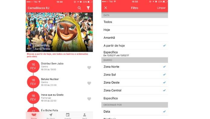 O CarnaBlocos te ajuda na programação do Carnaval (Foto: Reprodução/Camila Peres)