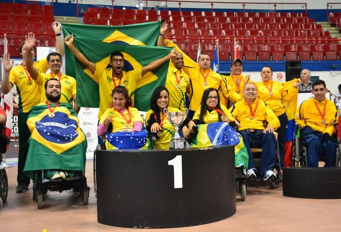 bocha paralímpica Copa América (Foto: Divulgação Ande)