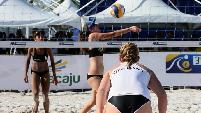 Mundial Escolar de Vôlei de Praia em Aracaju (Foto: Jorge Henrique)