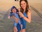 Geri Halliwell exibe boa forma menos de três meses após dar à luz