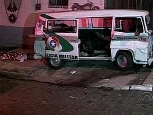Acidente ocorreu na noite de terça-feira (3) (Foto: Reprodução/RBS TV)