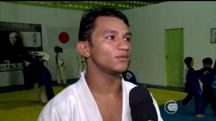 Fabrício Alves, judoca piuiense (Foto: TV Clube)