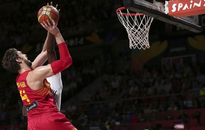Pau Gasol basquete França x Espanha (Foto: FIBA)