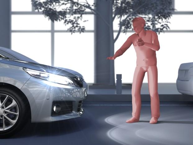 Novo sistema da Toyota detecta pedestres à noite  (Foto: reprodução)