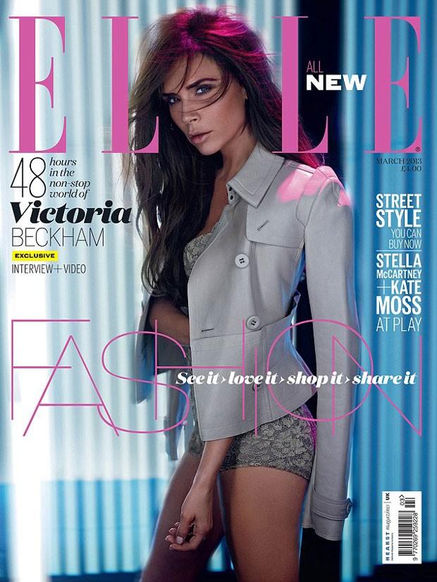 Victoria Beckham é capa da revista Elle (Foto: Reprodução)