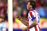 Mandzukic comemora gol do Atlético de Madrid contra o Malmo