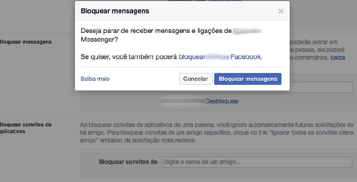 Como bloquear mensagens e convites de uma pessoa no Facebook (Foto: Reprodução/Felipe Vinha)