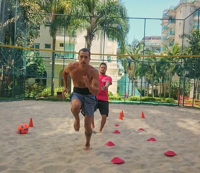 Ricardo também treina ao ar livre (Foto: Aquivo Pessoal)