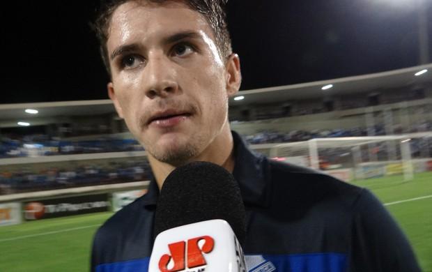 Everaldo, atacante do CSA (Foto: Caio Lorena / Globoesporte.com)