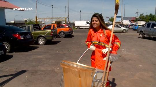 Dupla Identidade: blogueira vira gari por um dia, em Manaus