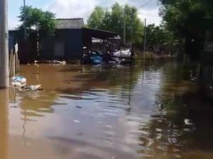 Situação na Ilha do Pavão ainda é complicada (Foto: Manoel Soares/RBS TV)