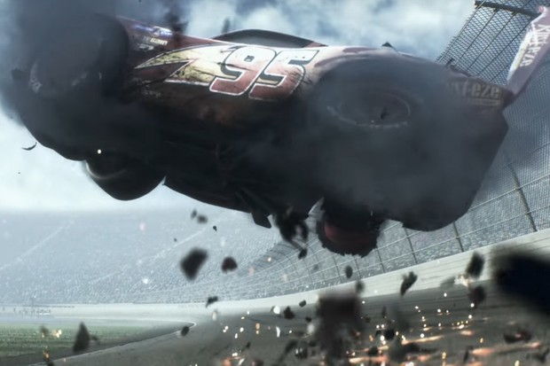 Trailer revela Relâmpago McQueen acidentado em Carros 3 (Foto: Reprodução)