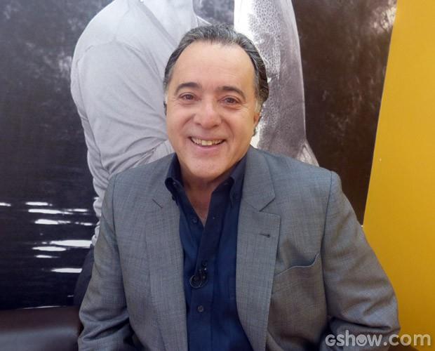 Tony Ramos nos bastidores do Mais Você (Foto: Mais Você / TV Globo)
