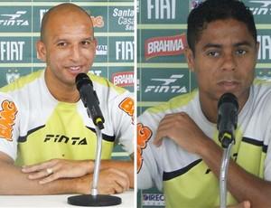 Fábio Júnior e Marquinhos Paraná, do América-MG (Foto: Montagem / Globoesporte.com)