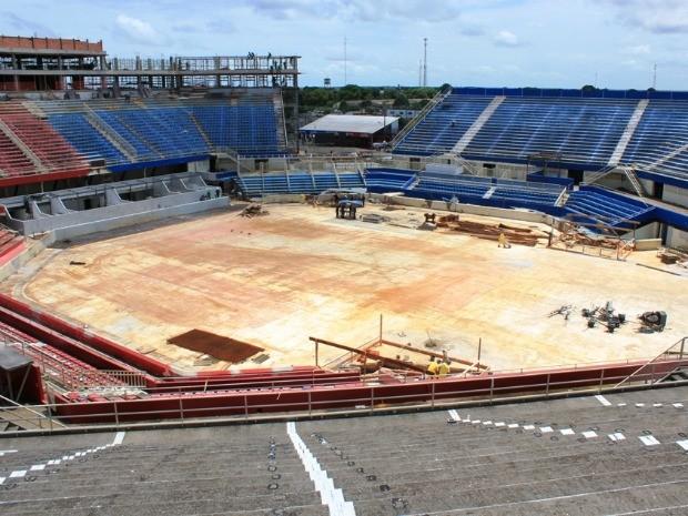 Obras no Bumbódromo atingem 60% de conclusão (Foto: Adneison Severiano/G1 AM)