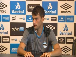 Rafael Thyere zagueiro Grêmio (Foto: Reprodução / RBS TV)