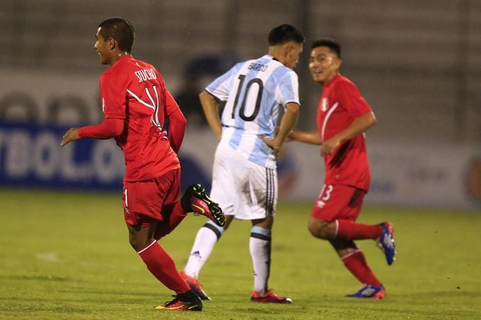 Argentina Peru Sul-Americano (Foto: José Jácome/EFE)