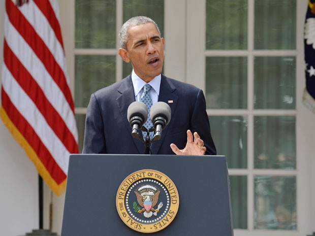 Barack Obama faz pronunciamento sobre programa nuclear do Irã (Foto: Reuters/Mike Theiler)