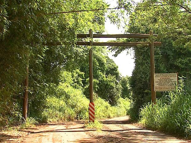 Promotira pediu fechamento da estrada municipal para proteger a Mata de Santa Teresa em RIbeirão Preto, SP (Foto: Valdinei Malaguti/EPTV)