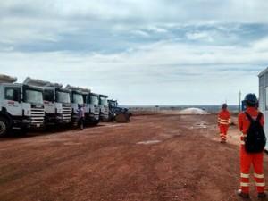 Obras na BR-163 em Mato Grosso começam no trecho de Rondonópolis (Foto: Laís Costa Marques)