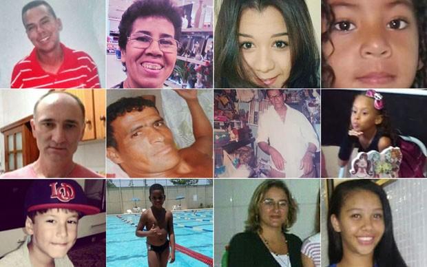 Vítimas de bala perdida em 2015 (620px por 388px) (Foto: Reprodução)