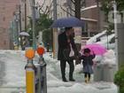 Forte nevasca deixa 120 feridos e cancela voos no Japão