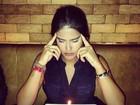 Antonia Morais faz pedido de aniversário