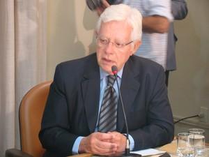 Ministro da Aviação, Moreira Franco, falou sobre projeto (Foto: Catarina Costa/G1)