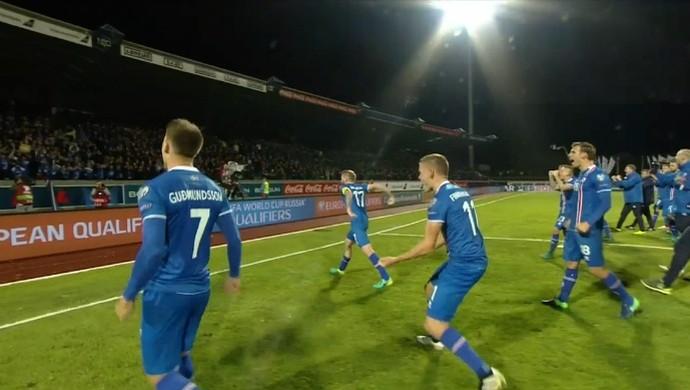 Islândia x Finlândia (Foto: Reprodução)