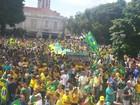 Ato contra Dilma e corrupção reúne 12 mil em Piracicaba, diz Polícia Militar