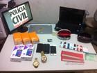 PC apresenta homem que fornecia materiais para estelionatários em MG