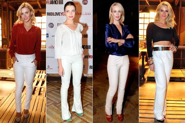 MODA - Calça Branca - Carolina Dieckmann, Bruna Linzmeyer, Mariana Ximenes e Giovanna Ewbank (Foto: AgNews | Roberto Teixeira / EGO)