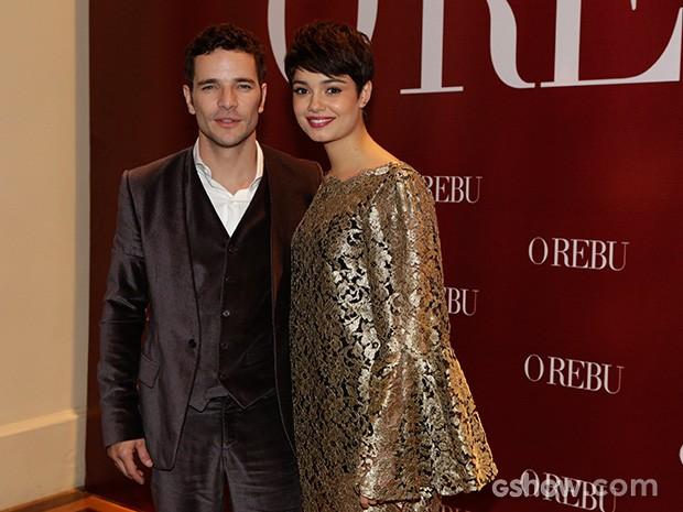 Os namorados Daniel de Oliveira e Sophie Charlote chegam para festa (Foto: Fábio Rocha / TV Globo)