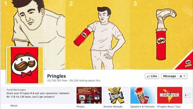 Facebook: Pringles (Foto: reprodução / internet)