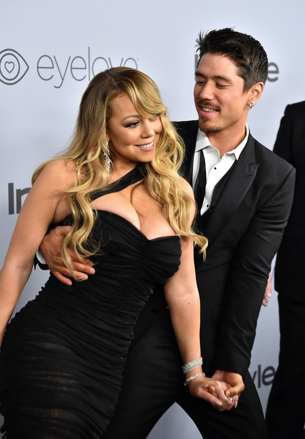 BEVERLY HILLS, CA - JANUARY 07:  Recording artist Mariah Carey (L) and Bryan Tanaka attend the 19th Annual Post-Golden Globes Party hosted by Warner Bros. Pictures and InStyle at The Beverly Hilton Hotel on January 7, 2018 in Beverly Hills, California.  ( (Foto: Getty Images)
