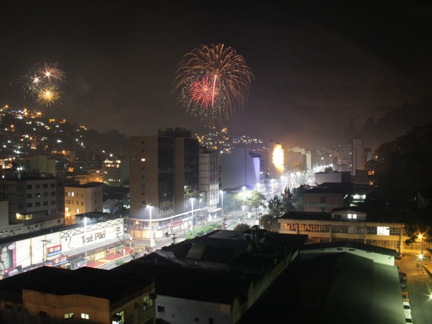Queima de fogos em Teresópolis (Foto: Divulgação/Prefeitura de Teresópolis)