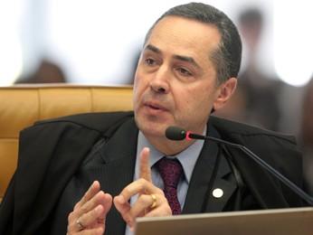 O ministro Luís Roberto Barroso em sessão no STF (Foto: Carlos Humberto/SCO/STF)