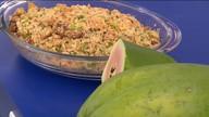 Aprenda a receita da farofa com mamão
