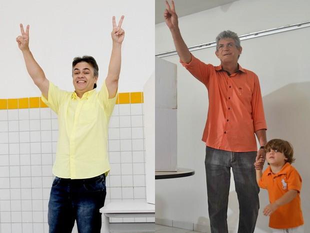 Cássio Cunha Lima e Ricardo Coutinho (Foto: Montagem/G1)