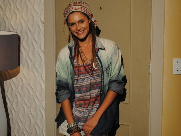 O estilo de Valentina é baseado no dos ciganos: roupas práticas e confortáveis (Foto: Malhação / Tv Globo)
