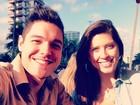 Nasser e Andressa curtem domingo namorando